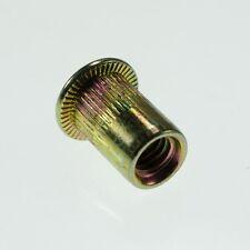 Lot50 Flat Head Metric Steel M10 Blind Insert Rivet Nut Rivnut Freeship
