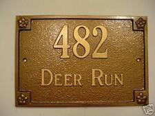 Custom Cast Aluminum House Number Plaque Sign