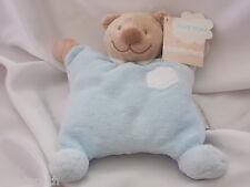 Doudou ours bleu, nuage, grelot, semi-plat, Nattou