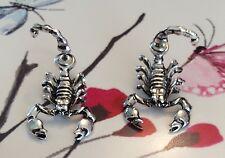 Bolsa De Regalo Gratis Chapado en Plata Pendientes señoras de la joyería de escorpión Animal Lindo Navidad