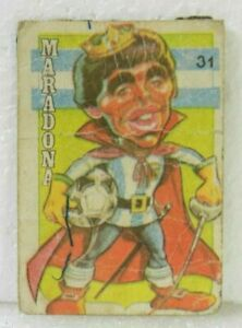 DIEGO ARMANDO MARADONA 1979 ORIGINAL FOOTBALL SOCCER CARD N°31