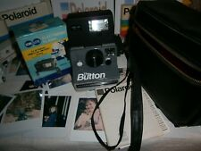 retro fun today retro Polaroid the button DUST CASE +NIB ELECTRONIC FLASH ---