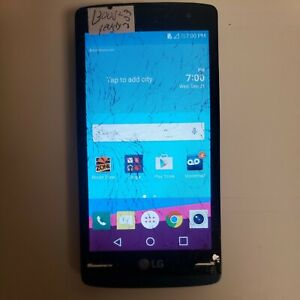 LG TRIBUTE 2 DUO 8GB (BOOST MOBILE) CRACKED SCREEN GOOD LCD *USED* READ