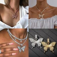2020 Butterfly Necklace Pendant Clavicle Choker Crystal Chain Women Jewelry New