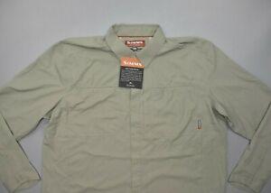 NEW Simms Fishing Ebb Tide LS Shirt Size 2XL Dark Khaki UPF 50+