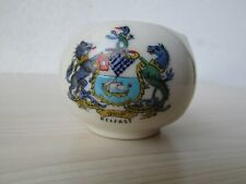CRESTED WARE ARCADIAN CHINA 'BELFAST' SMALL VASE A&S STOKE ON TRENT.