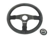 Sparco R375 Steering Wheel 350mm Black Suede 36mm Dish 015R375PSN NEW