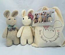 Crochet Kit -Twin Bunnies Arthur & Betsy Luxury Kit - Learn to Crochet beginners