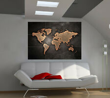 "Grunge World Map Huge Art Giant Poster Wall Print 39""x57"" d502a"