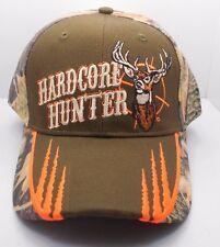 Deer Buck Hardcore Hunter Hunting Ball Cap Hat New Brown & Camo HH-8