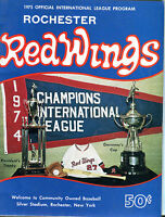 Rochester Red Wings 1975 Official Program Rochester NY jhc