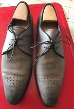 santoni cuir gris homme P51/2 tbe