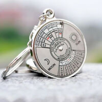 50 Years Perpetual Calendar Keyring KeyChain Unique Metal Key Chain Ring Gift