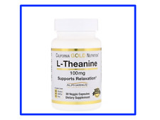 California Gold Nutrition, L-Theanine, AlphaWave,100 mg - 30 Veg Cap-Exp:03/2021