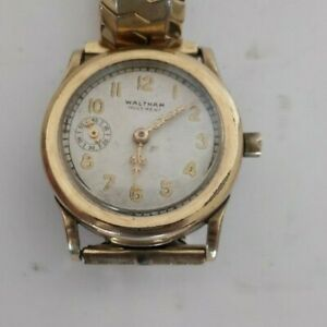 Vintage Rare Waltham Mass A.W.W.CO gold plated 31mm watch