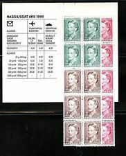 Greenland #224a (Gr354) Complete Queen Margrethe Booklet, Mnh, Cv$47.50