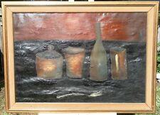 GUISEPPE NAPOLI (1929-1967) NY ORIGINAL OIL PAINTING SIGNED 1958 NATURA MURTA