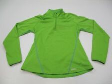 CABELA'S K341 Women Size M Thermal Half Zip Green Soft Shell Outdoor Sweatshirt