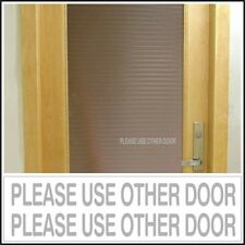Office Shop Decal Please Use Other Door business entrance glass door sign Silver