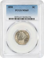 1898 5c PCGS MS65 - Silky Gem - Liberty V Nickel - Silky Gem