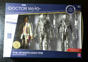 Doctor Who The Seventh Doctor B&M Collector Figure Set Silver Nemesis Cybermen
