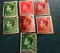 Lot 7 Cancelled Used GB STAMPS KING EDWARD VIII THE UNCROWNED KING