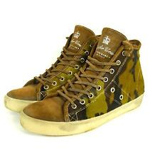 LEATHER CROWN Sneakers Leder Fell Winter Camouflage Grün Braun Gr. EUR 39 (T20)