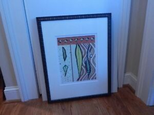 "Kris Taylor ""GoGoLeaves #4"" Signed in Print Titled Great Framing Job"