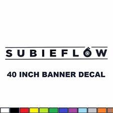 "SALE 40"" SUBIEFLOW banner Subaru STI WRX BRZ JDM Subie Flow sticker vinyl decal"