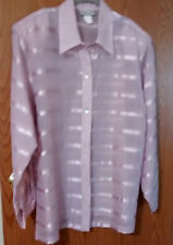 COLLECTION formal see thru blouse size XL pink