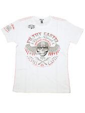 Yakuza Premium T-Shirt Herren Weiß Totenkopf Filthy Cartel Männer Shirt  5074