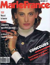 ▬►MARIE FRANCE 381 (1987) INES DE LA FRESSANGE_FRANCE GALL_SAGAN _MODE FASHION