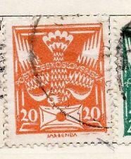 Tchécoslovaquie 1920 early question fine utilisée 20h. 077198