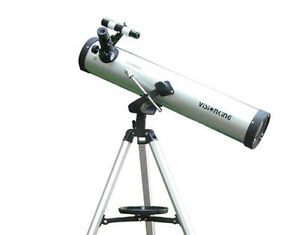 Visionking 3'' 76x700mm Reflector Newtonian Astronomical Telescope Altazimuth