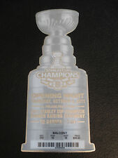 Rare BOSTON BRUINS Opening Night 2011 STANLEY CUP Banner Ceremony Ticket