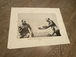 Johnson Jeffries Fight 1910 James Pepper Whisky Advertising Paper Photo AS IS