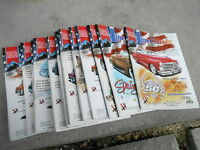 FRB-#352 LOT OF 13 LINECHASER car magazines