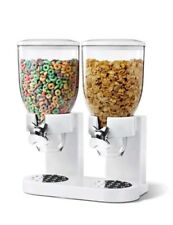 Double Canister Corn Flakes Dispenser Dry Food Container Storage Cereal Machine