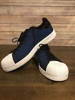 Adidas Shoe Sneaker Superstar Bounce PK Men's PrimeKnit Size 10.5 Blue Black