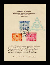 PHILIPPINES, Sc #NB4, MNH, 1943, S/S, FDC Klayaan NG Philippines, A5FDDDAR6