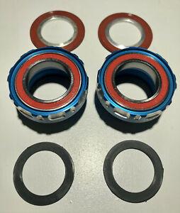 Enduro Ceramic Bearing BSA Bottom Bracket BLUE Road for Shimano NO center sleeve