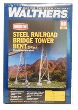 HO Scale Walthers Cornerstone 933-4555 Steel Railroad Bridge Tower Bent 2 pk