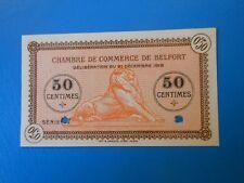 90 Belfort chambre de commerce 50 centimes 21-12-1918 SPECIMEN série ?7 non vue