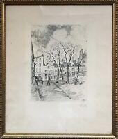 Radierung Kelly 1926 Paris Montmartre Künstlerviertel 32,5 x 27 cm Frankreich
