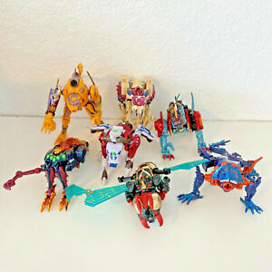 Transformers Beast Wars Transmetal Robot Toys Hasbro Loose LOT OF 7 READ INFO!