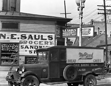 "1936 N.E. Sauls Grocery Store, New Orleans Old Photo 8.5"" x 11"" Reprint"