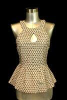 womens brown VANESSA VIRGINIA anthropologie ERINUS embroidered halter top S 6