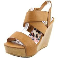 Sandalias con tiras de mujer de color principal marrón Talla 39