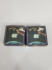 Vintage 1983 Avon E.T. & Elliot 3 oz Decal Blue Soap Round New in Box Lot of 2