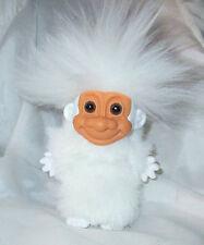 """4"""" YETTI TROLL DOLL Custom White Hair trolls dolls yeti vtg abominable snowman"""